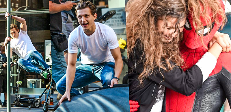 Films scenes for Spider-Man: Far From Home in NYC